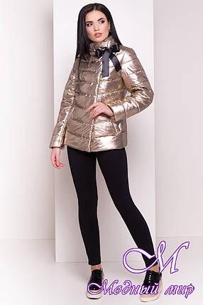Женская золотистая куртка фольга весна-осень (р. XS, S, M, L, XL) арт. Эллария 4260 - 21965, фото 2