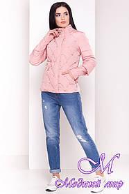 Женская стильная демисезонная куртка нежно-розового цвета (р. S, M, L) арт. Марцелла 4591 - 33764