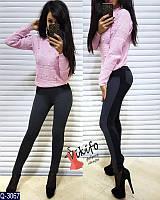 Лосины женские стильные !Приятные к телу!Отличное качество!Размеры:полномерные 42,44.Материал:дайвинг+стеганный трикотаж.Лосины на флисе