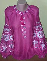 """Блузка в стилі бохо """"Намисто"""" рожева"""