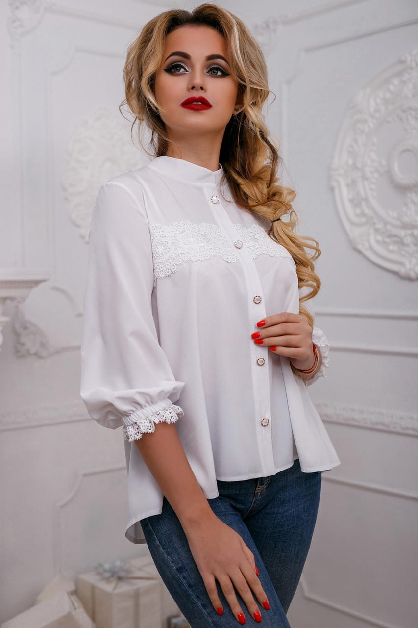 Модная стильная женская блуза 959 (44–50р) в расцветках
