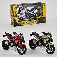 Мотоцикл металло-пластик 3 цвета, в кор. /144/(HX795)