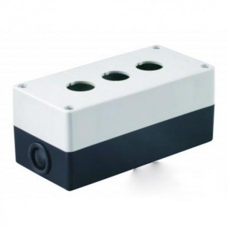 Корпус КП103 для кнопок 3места белый IEK BKP10-3-K01