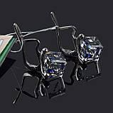 Серебряные серьги с кристаллом Сваровски , фото 3