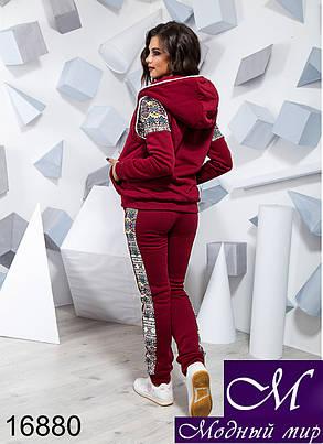 Женский теплый спортивный костюм с мехом (р. 42, 44, 46) арт. 16880, фото 2