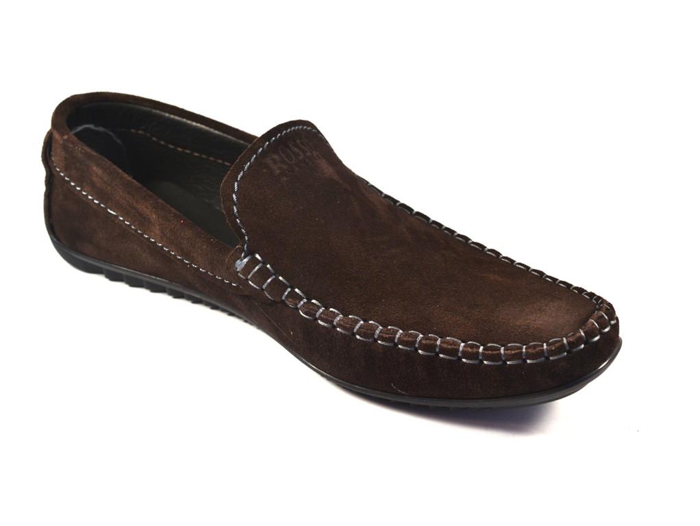 Мужская обувь больших размеров мокасины замшевые коричневые Rosso Avangard M4 Strong Brown BS
