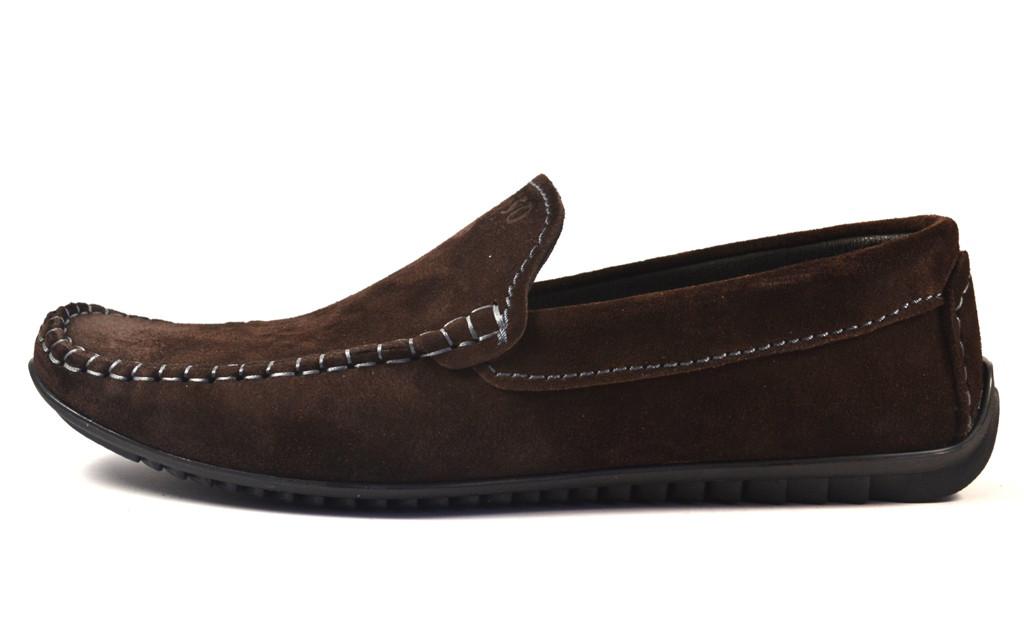 Мокасины мужские коричневые замшевые стильные летняя обувь Rosso Avangard M4 Strong Brown