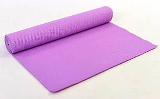 Килимок для фітнесу PVC 4мм Yoga mat р-р 1,73 м*0,61 м*4мм