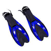 Ласты для плавания с открытой пяткой регулируемые Dolvor F66 размер 40-44 синие