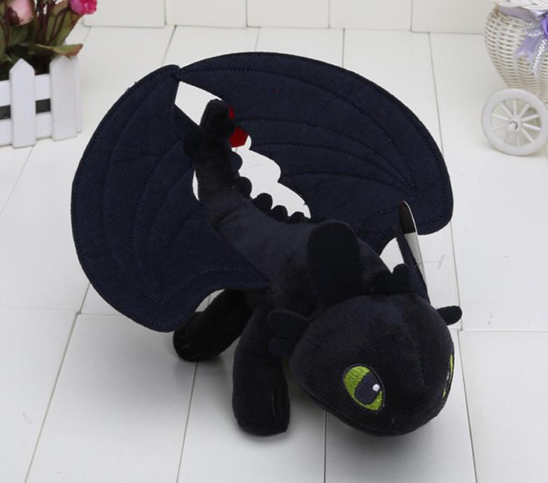 Оригинальная плюшевая игрушка от DreamWorks.  Дракон Беззубик Как приручить дракона 26 см.