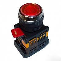 Кнопка ABLFS-22 красный (d22мм неон/230В 1 Н.О.+1 Н.З.) IEK BBT30-ABLFS-K04