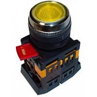 Кнопка ABLFS-22 желтый (d22мм неон/230В 1 Н.О.+1 Н.З.) IEK BBT30-ABLFS-K05