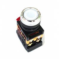 Кнопка ABLFS-22 белый (d22мм неон/230В 1 Н.О.+1 Н.З.) IEK BBT30-ABLFS-K01