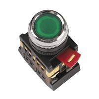 Кнопка ABLFS-22 зелений (d22мм неон/230В 1 Н.О.+1 Н.З.) IEK BBT30-ABLFS-K06