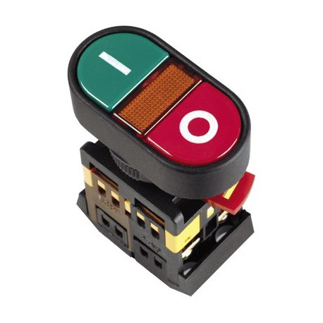 "Кнопка APВВ-22N ""I-O"" (d22мм неон/230В 1 Н.О.+1 Н.З.) IEK BBD10-APBB-K51"