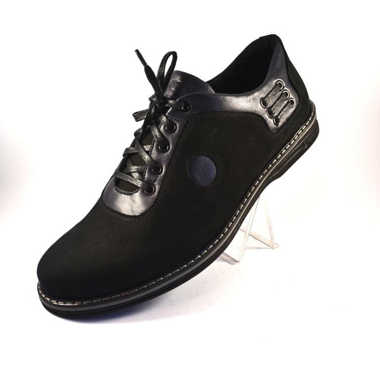 Мужская обувь больших размеров туфли демисезонные облегченные нубук черные Rosso Avangard Prince Black Nub BS