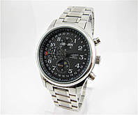 Часы Longines Moonphases Tourbillon 40 mm Silver/Black. Класс: AAA.