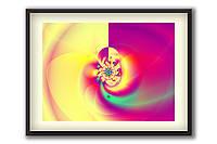 """Картина в спальню, защищает психику и сон """"Защищающий Вихрь"""" 60х45 см, золотая"""