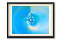 """Картина в спальню, защищает психику и сон """"Защищающий Вихрь"""" 60х45 см, голубая"""