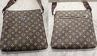 Сумка мужская Louis Vuitton качественная эко кожа Черная и Коричневая