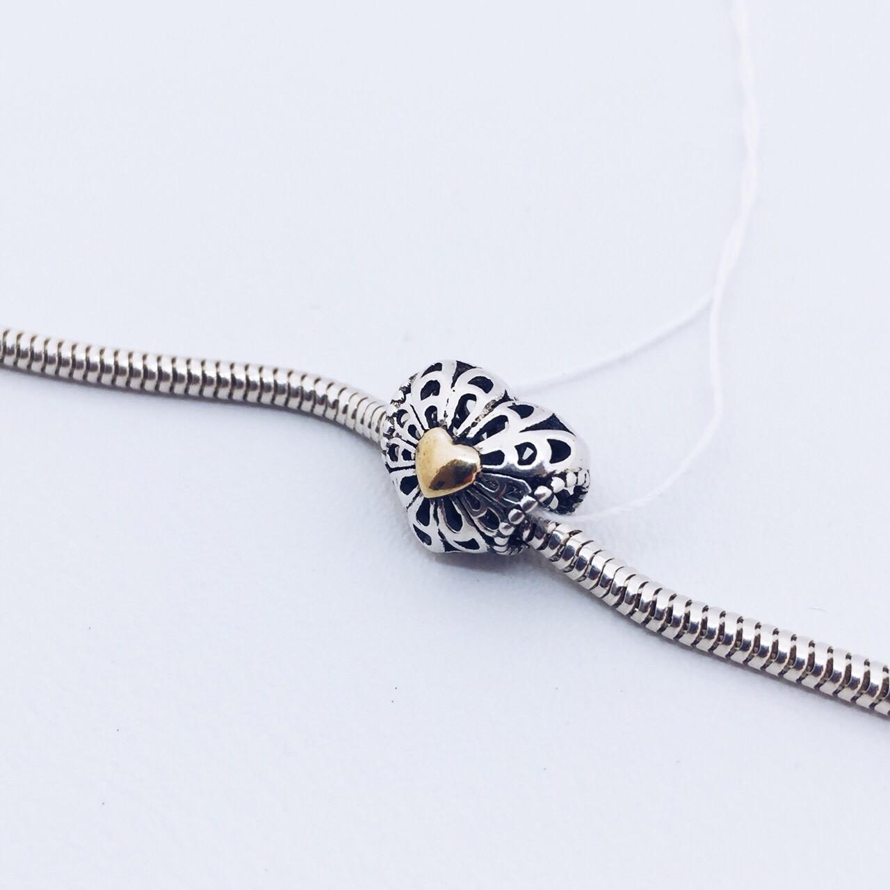 Серебряное украшение Шарм с сердцем
