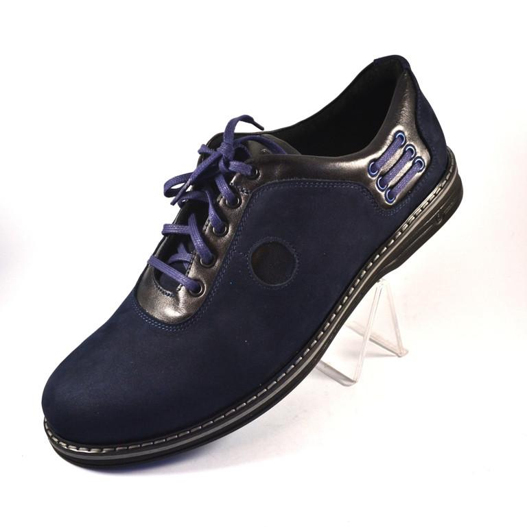 Туфли мужские облегченные нубук синие Rosso Avangard Prince Blu Nub