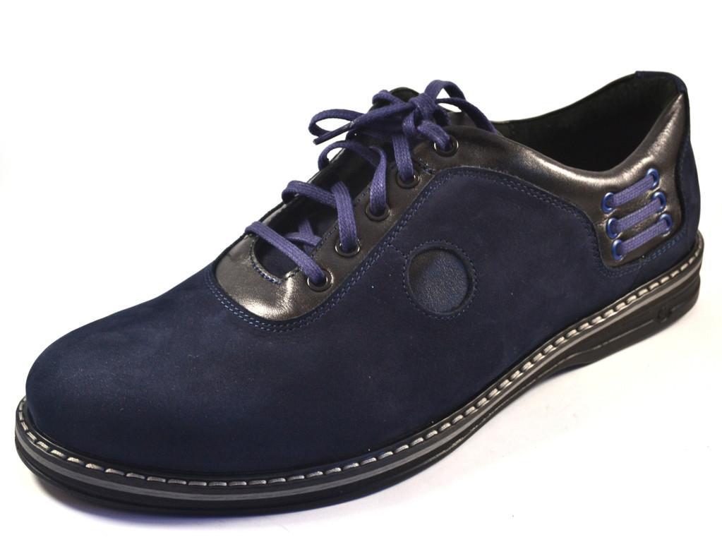 Туфли мужские больших размеров облегченные нубук синие Rosso Avangard Prince Blu Nub BS