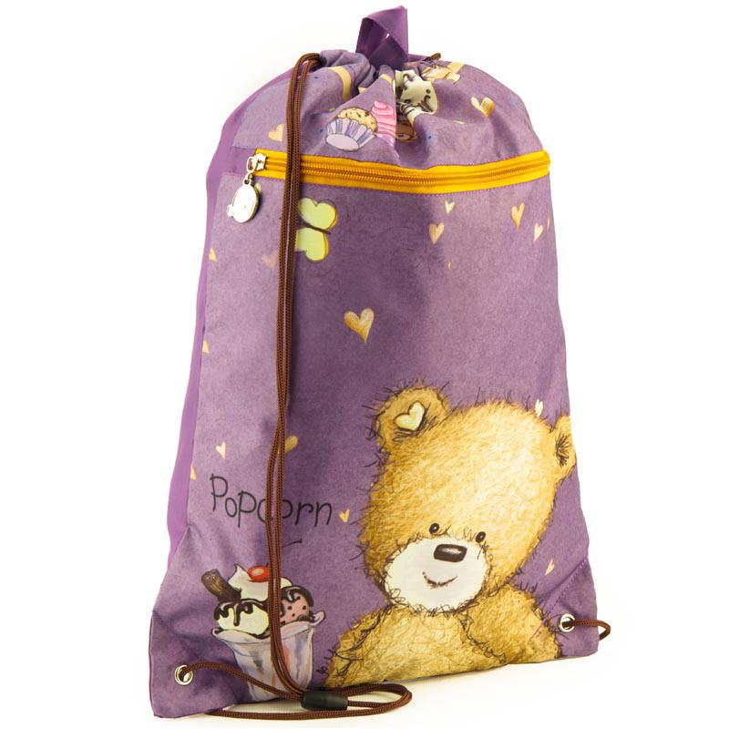 Сумка для обуви с карманом Kite Popcorn Bear PO18-601M-1
