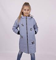 Утепленная, демисезонная куртка для девочки LM 140,146,152,158,164