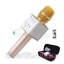 Микрофон караоке Q9 с колонкой блютус, фото 2