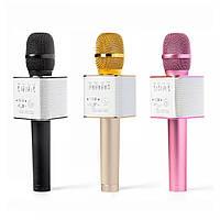 Микрофон караоке Q9 с колонкой блютус+чехол