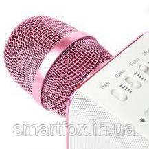 Микрофон караоке Q9 с колонкой блютус, фото 3