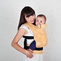 Льняной жаккардовый эрго-рюкзак Basic Веточки, фото 1