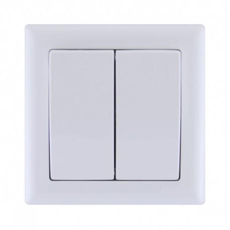 Выключатель 2-кл. белый IEK BOLERO ВК02-00-0-ББ
