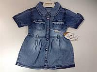 Стильное платье для девочки джинс