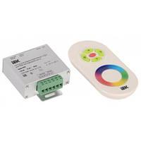 Контроллер с ПДУ радио (белый) RGB 3 канала 12В, 4А, 144Вт IEK-eco