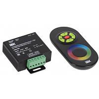 Контроллер с ПДУ радио (черный) RGB 3 канала 12В, 4А, 144Вт IEK-eco