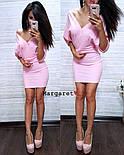 """Женское стильное платье """"Летучая мышь"""" (2 цвета), фото 3"""