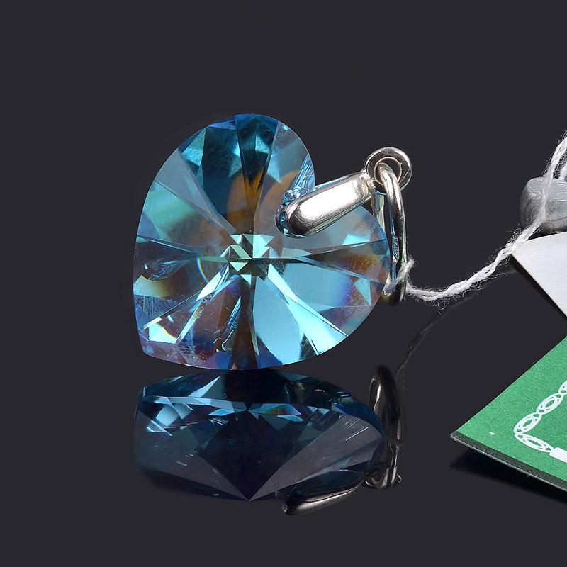 Подвес (кулон) Сердце с кристаллом Swarovski
