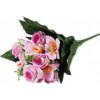 """Букет """"Роза + орхидея + ромашка"""" 19 цветов 44 см не прессованная 218"""