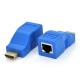 Одноканальный пассивный удлинитель HDMI сигнала по UTP кабелю по одной витой паре. Дальность передачи: до 30метров, 720P-cat5e, 1080Р- cat6e