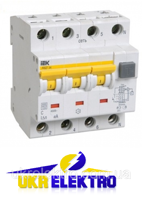 Автоматические выключатели дифференциального тока АВДТ34
