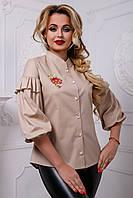 Летняя блуза свободного покроя 2584 44–50р. в расцветках, фото 1