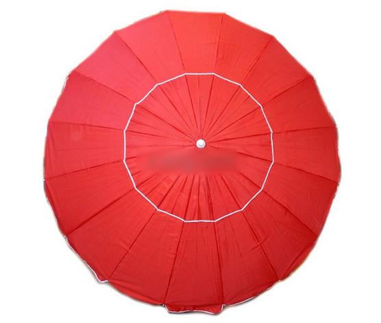 Зонт пляжний 2.5 м з клапаном, фото 2