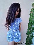 Женский стильный принтованый льняной костюм: топ и шорты (в расцветках), фото 2