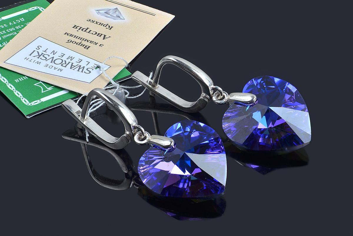 Нарядные серьги с кристаллами Swarovski