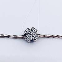 Серебряное украшение Шарм цветок в камнях, фото 1