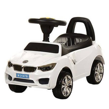 Толокар BMW, Белый (M 3147B-1), звук, свет, фото 2