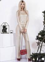 """Женский трикотажный домашний костюм """"SHINE"""" с напылением (3 цвета)"""