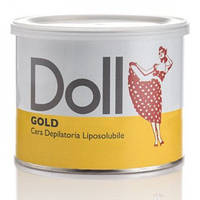 """Теплый воск для депиляции в банке Doll """"Золото"""", 400 мл (Xanitalia) Италия"""